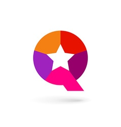 Letter Q star logo icon design template elements vector image