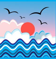 marine graphic landscape vector image