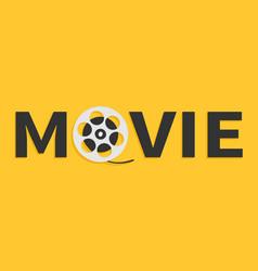 movie reel icon i love cinema icon word vector image