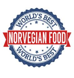 norvegian food cuisine grunge rubber stamp vector image