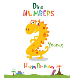 number 2 in form a dinosaur vector image