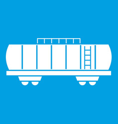 Oil railway tank icon white vector