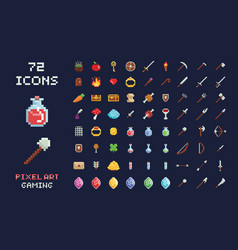 Pixel art game design icon video game vector