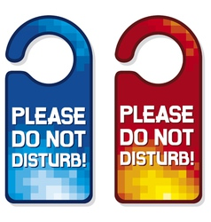 Please do not disturb sign set vector