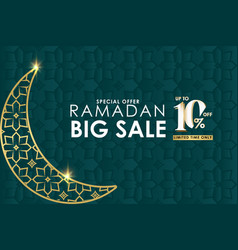 Ramadan big sale special offer up to 10 off vector