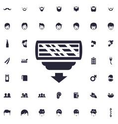 Razor head icon vector