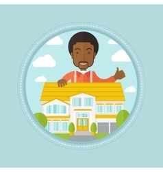 Real estate agent giving thumb up vector