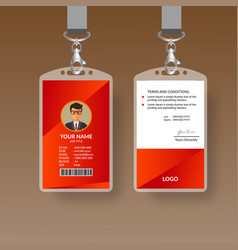 red nice id card vector image