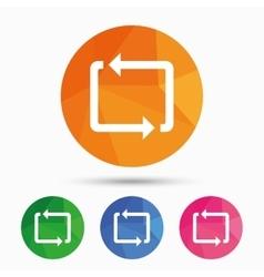 Repeat icon Loop symbol Refresh sign vector image