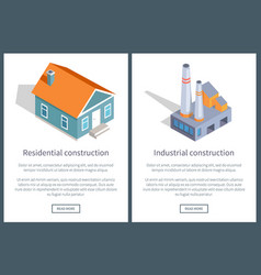 residential and industrial web vector image