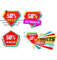 Sale or discount 50 vector