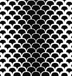 Seamless black and white shape pattern vector