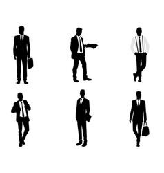 Six business mens vector