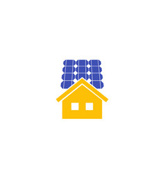 solar panels for home icon vector image