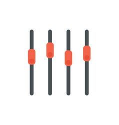 sound mixer icon slider sound channel vector image