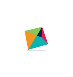 square colored triangle logo vector image