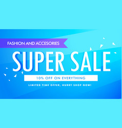 Super sale promotional banner template design vector