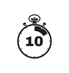 The 10 seconds minutes stopwatch icon Clock and vector