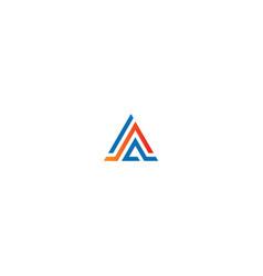 triangle shape colored business company logo vector image
