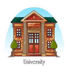 University building or college facade education vector