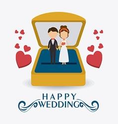 Wedding card design vector image
