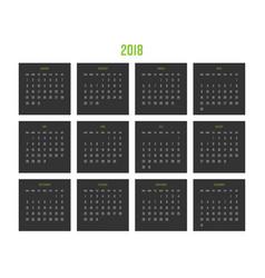 year 2018 calendar week starts from sunday vector image