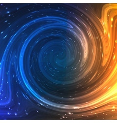 Colorful shining swirl like flow of water and vector