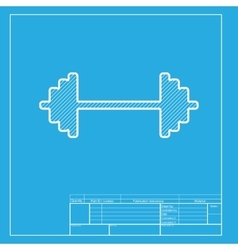 Dumbbell weights sign White section of icon on vector image vector image