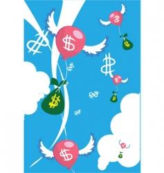 floating money vector image