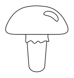 Poisonous mushroom icon outline style vector