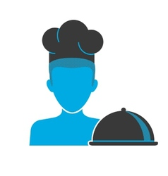 Restaurant chefs blue icon vector image vector image