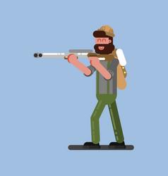 hunter ready to shoot vector image