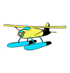 hydroplane icon icon cartoon vector image vector image