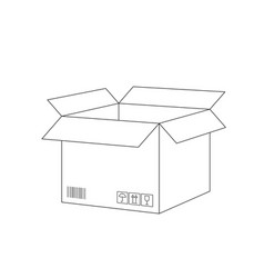 open postal box sketch vector image