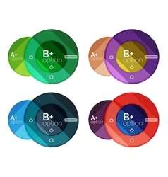 Set of round infographic banners with options vector image vector image