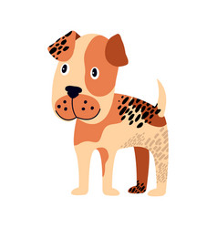 spotted dog of brown color on vector image