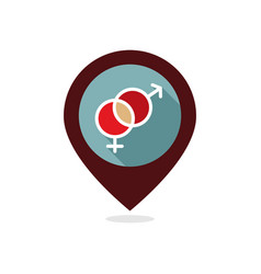 male and female pin map icon symbols vector image