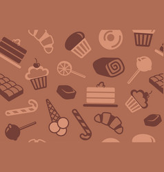 seamless background of sweets vector image