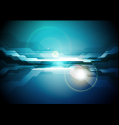 dark blue abstract technology background vector image