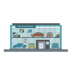 modern car dealership showroom interior vector image vector image