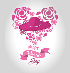 women day greeting cards icon vector image vector image