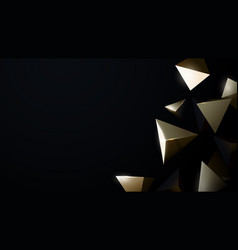 Abstract 3d gold chaotic low poly shapes luxury vector