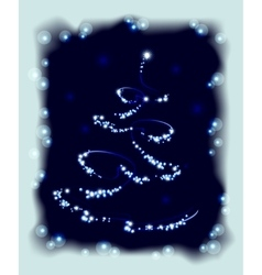 Abstract Christmas tree in frame EPS10 vector image