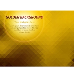 Abstract golden geometric business card background vector