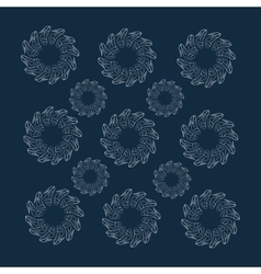 background of circular patterns of elegant vector image