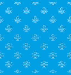 bakery fresh pattern seamless blue vector image