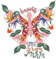 Beauty Comes From Within vector image