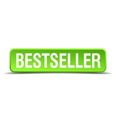 bestseller green 3d realistic square isolated vector image