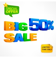 Big sale inscription 50 vector