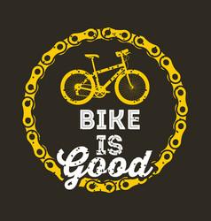 Bike is good round chain poster dark background vector